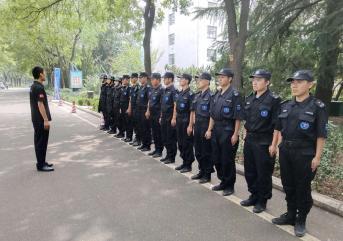 潍坊安保服务公司以军事化管理推动安防队伍建设
